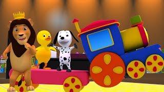 Боб поезд|Животное звук песня| русский Детские стишки | Bob Train Animal Sound Song