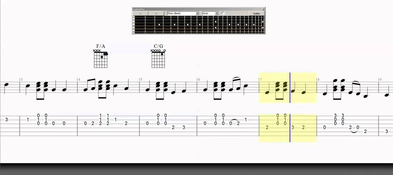 Guitar Tab Wildwood Flower Chord Melody Grade 3 Guitar Arrangement ...