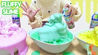 DIY Giant Fluffy Slime with Foam Soap , Mr. Bubble