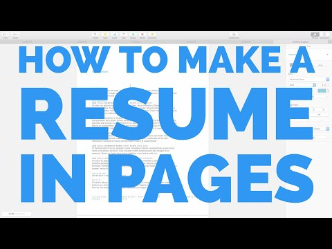 How to Make a Resume in Pages for Mac