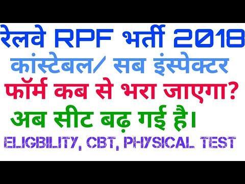 Railway RPF Vacancy 2018 constable sub inspector recruitment in Railway RPF 2018 How to apply