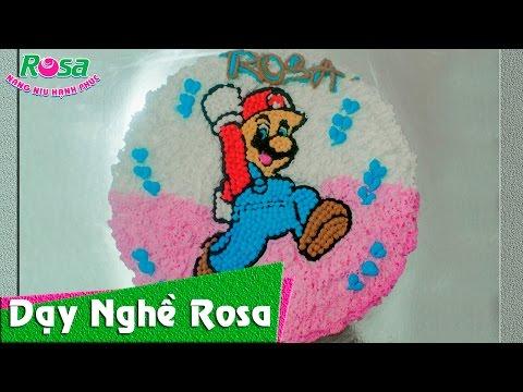 Bánh kem sinh nhật mẫu nấm Mario cực kì dễ thương