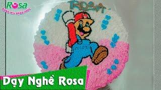 Bánh kem sinh nhật mẫu nấm Mario Run cực kì dễ thương