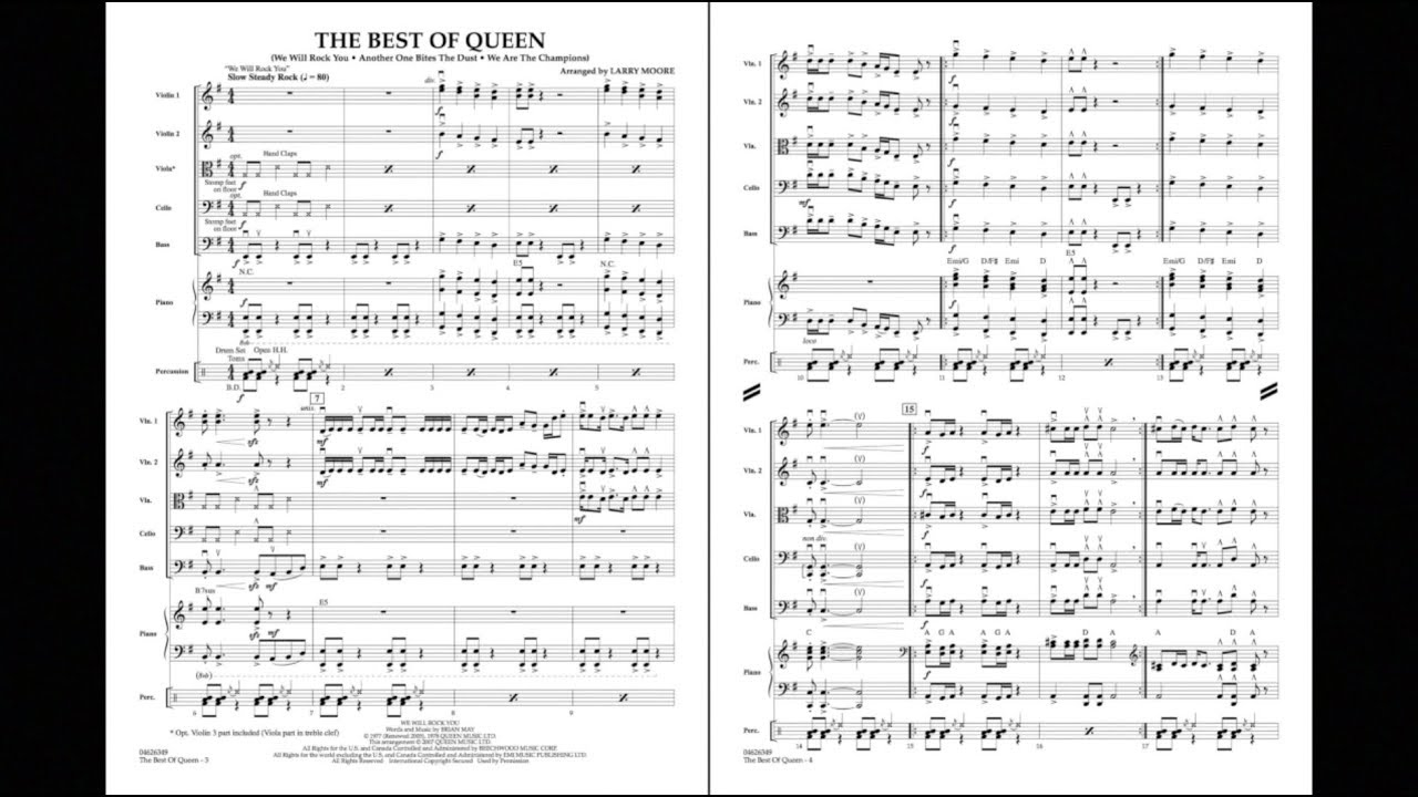 The Best of Queen arranged by Larry Moore
