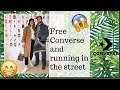 Free CONVERSE + Running in the street