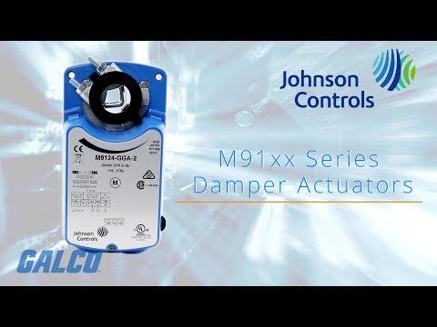 Johnson Controls M91xx Series Damper Actuators - YouTube
