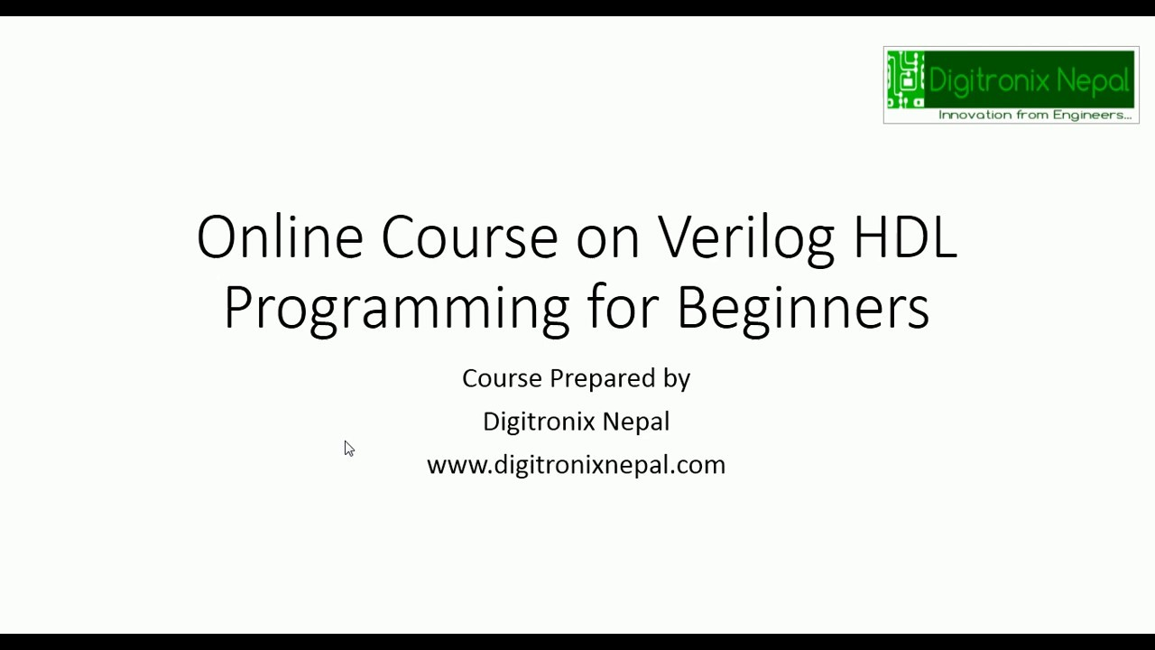 Online Course on Verilog HDL programming for Beginners- Take Course at Udemy