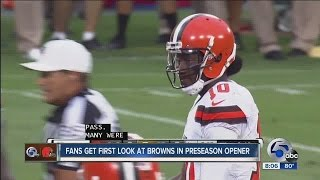 Browns first preseason game