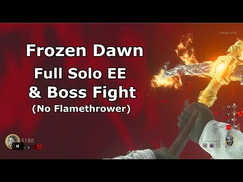 Frozen Dawn Full Solo Easter Egg & Boss (no FlameThrower)