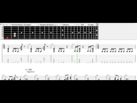 Metallica - Dyers Eve notes with solo (by Andy)