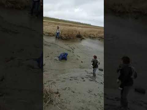 Bijna verdronken in