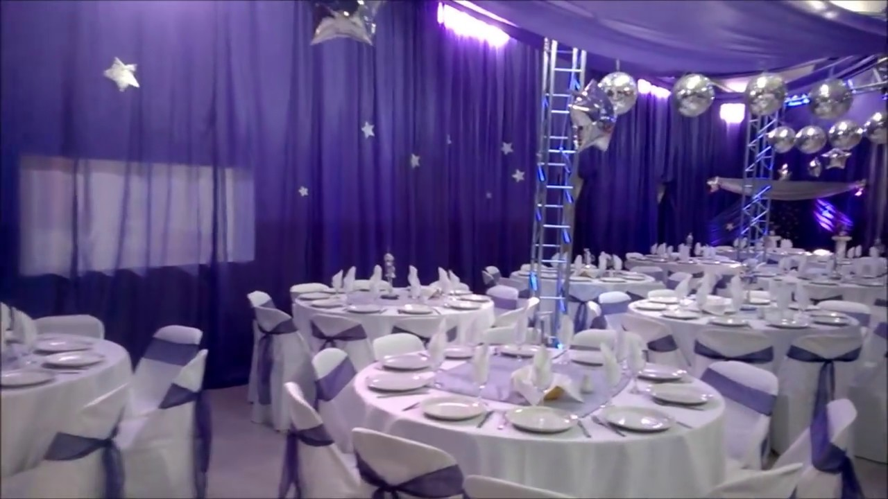 Decoraci n de sal n event lore fiesta de 15 youtube - Decoracion para salones ...