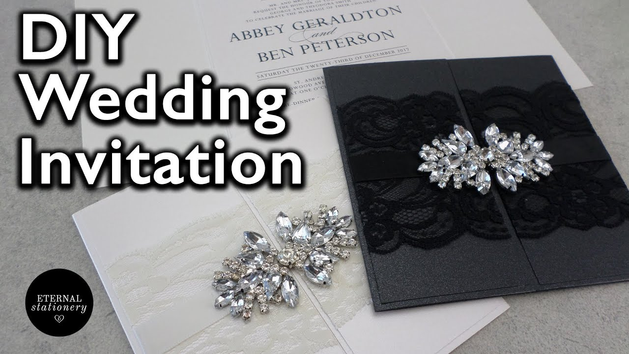 How to make an elegant gatefold wedding invitation diy invitations how to make an elegant gatefold wedding invitation diy invitations youtube stopboris Choice Image