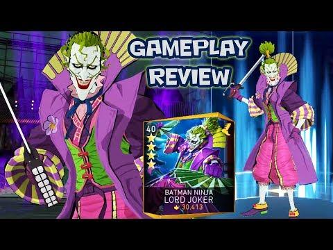 Injustice 2 Mobile Batman Ninja Lord Joker Gameplay Review Batman Ninja Team Is Op Now Youtube