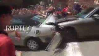 USA: Horrifying moment car ploughs into Charlottesville protesters at alt-right rally