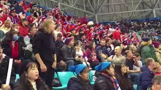 Суператмосфера матча Россия-США