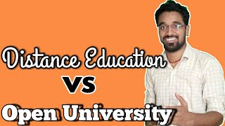 Open University vs Distance education