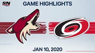 NHL Highlights   Coyotes vs Hurricanes – Jan. 10, 2020