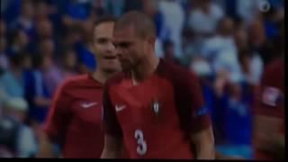 Pepe kotzt auf das Spielfeld - Portugal vs Frankreich EM 2016 Finale