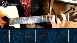 "Cómo tocar ""Californication"" de Red Hot Chili Peppers en Guitarra (HD) Tutorial - Christianvib"