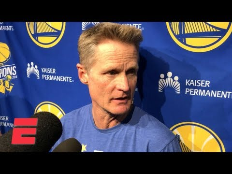 Steve Kerr 'shocked' by Draymond Green's flagrant foul call, which led to his ejection | NBA Sound