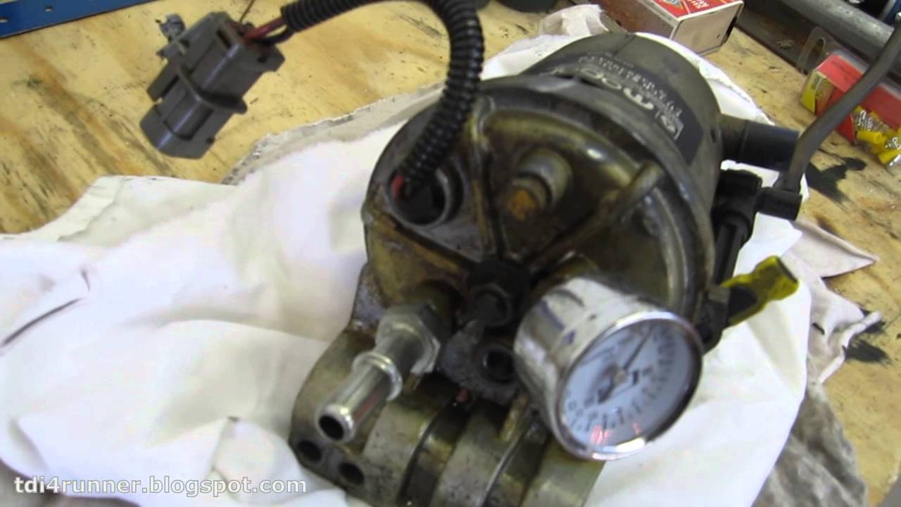 24v cummins fuel heater o ring leak fix on 99 dodge ram 2500 truck import metal [ 1280 x 720 Pixel ]
