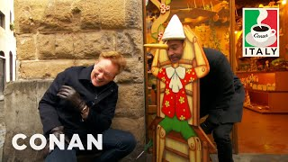 Conan experiences Florence's beauty, sandwiches, and souvenir aprons through Jordan's cold, dead eyes. More CONAN @ http://teamcoco.com/video Team ...