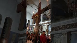Μεγάλη Πέμπτη Ιερός Ναός Αναλήψεως του Χριστού Καλαμάτας.Η σταύρωση του Κυρίου.