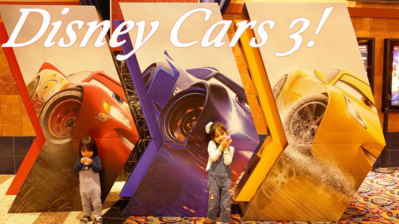Disney Cars 3 Poster At The Movie Theater Arcade Games Prizes