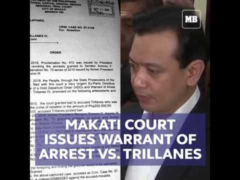 Makati court issues arrest warrant vs. Trillanes