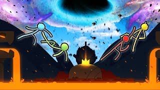Our Friendly Day Of Fun was Ruined by a Black Hole Disaster in Stick Fight