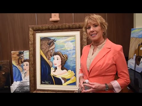 Voice of Disney's Belle, Paige O'Hara now paints her too, cases art at Las Vegas gallery