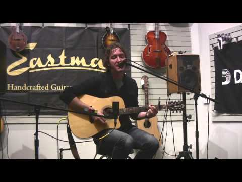 Matt Treinen at the Portland Music Company Acoustic Open Mic