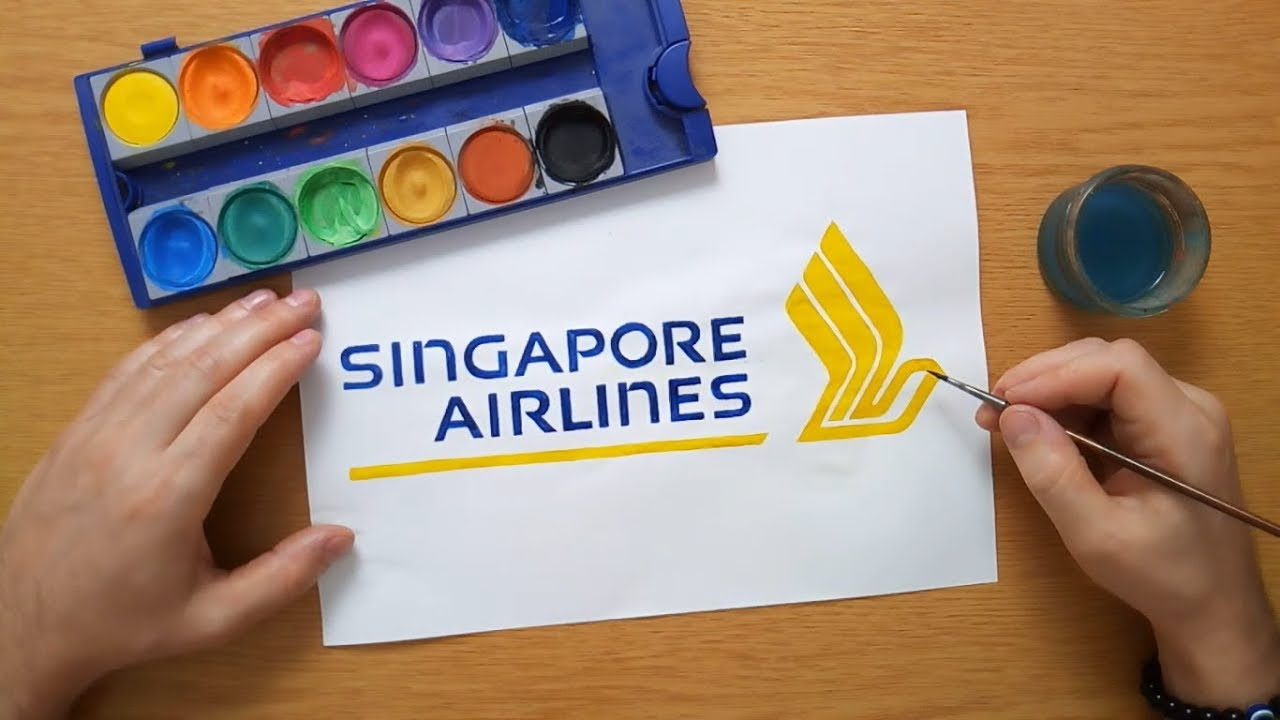 How To Draw The Singapore Airlines Logo Youtube