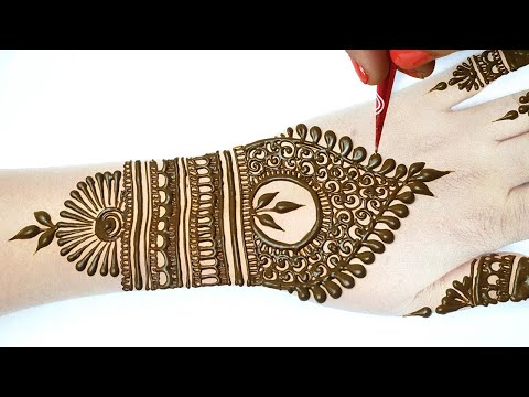 New Eid 2020 Special Mehndi Design- आसान मेहँदी लगाना सीखे | Stylish Backhand Mehndi Step by Step