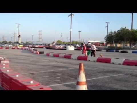 Nate and Abbi karting
