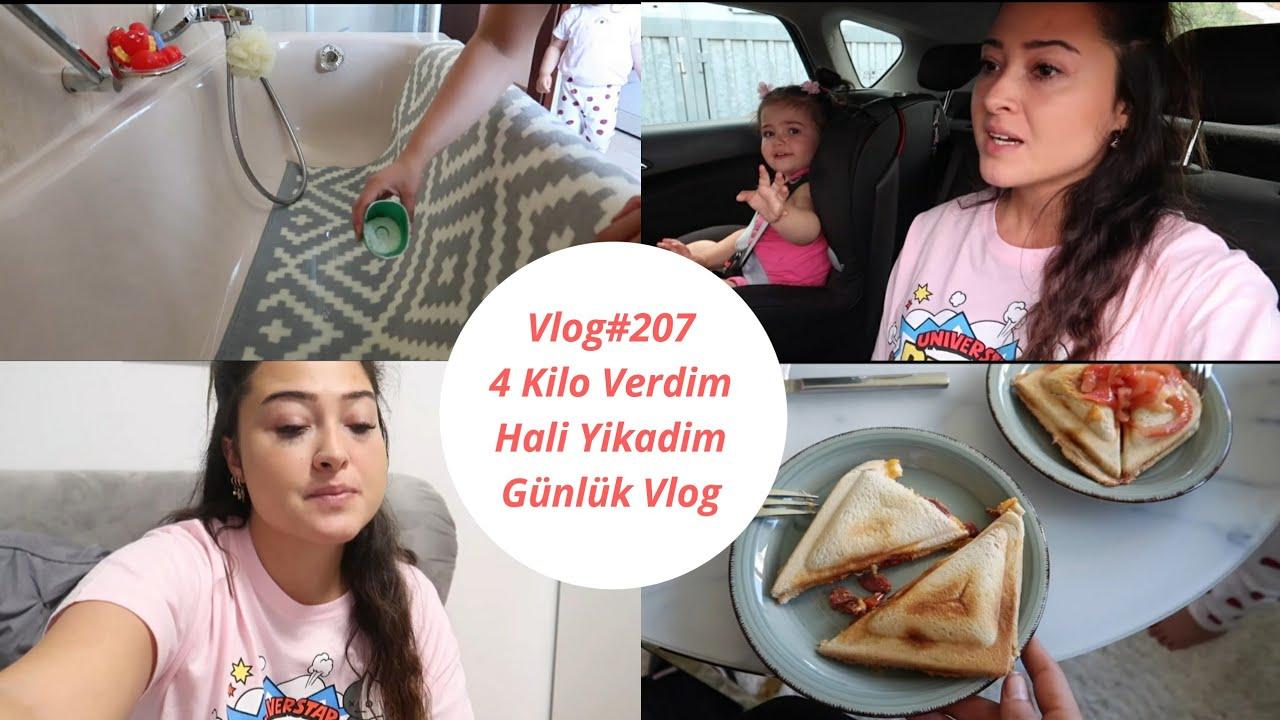 Vlog#207 / KARISIK VLOG / 4 KILO VERDIM / COK ÜZGÜNÜM / BYE YOUTUBE? / HALI YIKADIM / NE YIYORUM?