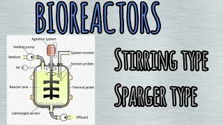Bioreactors :- stirred type and sparger type.