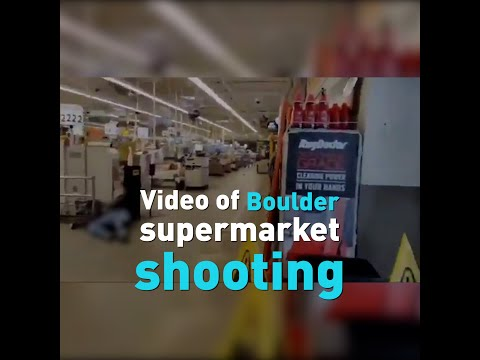 Footage from the Boulder shooting