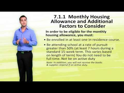 Module 7.1.1 - Monthly Housing Allowance