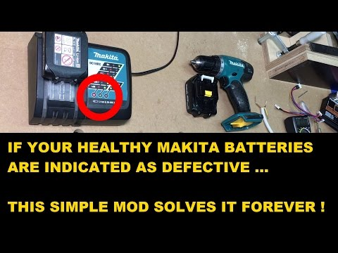 If your healthy Makita liion batteries won't charge... solve it forever!