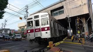 製造から40年越えるも、まだまだ現役の、長野電鉄8500系。(元東急8500系)