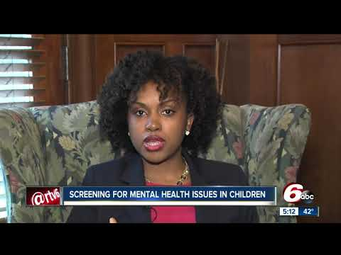When should you begin screening for mental health issues in children?