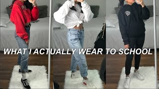 What I ACTUALLY Wear to School | charlene marilyn
