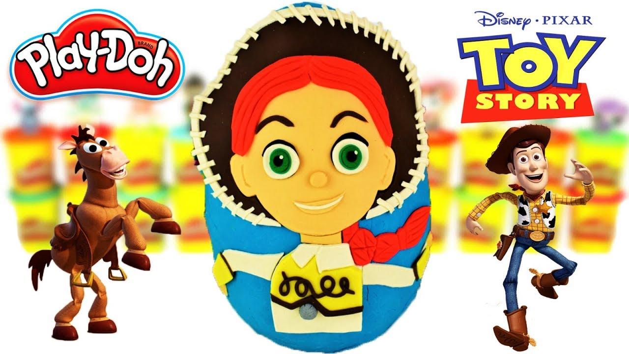 Huevo Sorpresa Gigante de Toy Story de Jessie en Español de Plastilina Play Doh