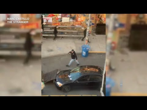 Video shows man driving vehicle into Seattle protesters