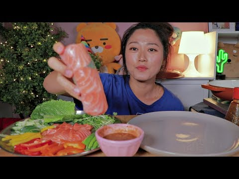 Salmon Sashimi Spring Rolls @home!! 🍣