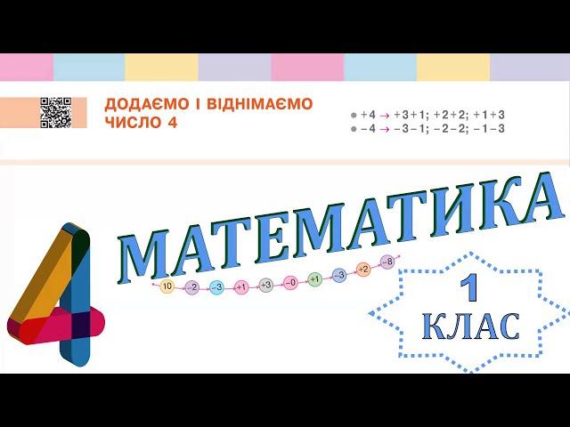 1 клас. Математика. Додаємо і віднімаємо число 4