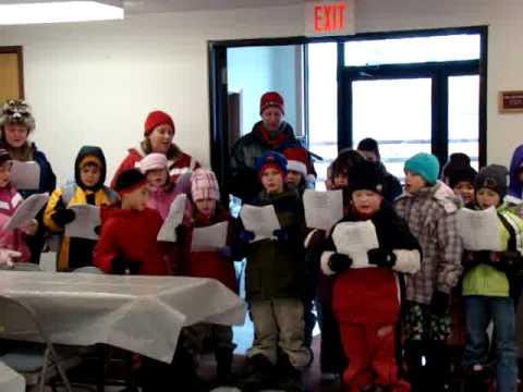 Ojibwe Charter School students caroling
