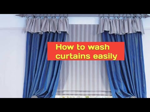 How to wash door curtain easily at home|how to dry clean window curtain at home